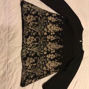Top/dress black with gold